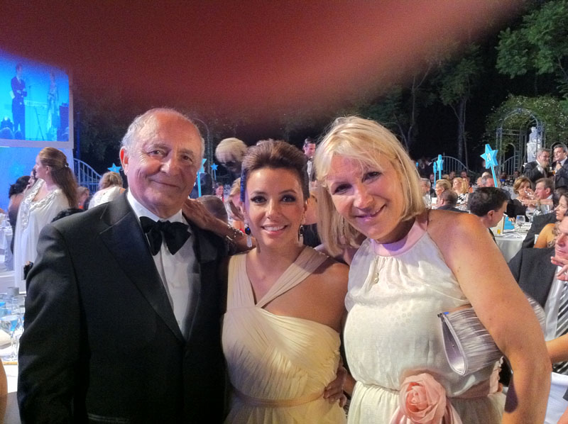 Sandra Garcia Sanjua Dr Roger Amar Eva Longoria Ghislaine Devico Starlite2011